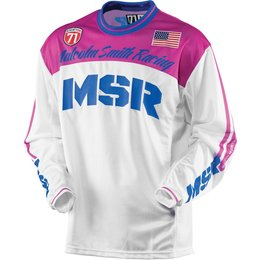 MSR Womens Legend 71 Motocross MX Riding Jersey Pink