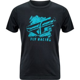 Fly Racing Youth Boys Crayon Premium Fit T-Shirt Black
