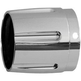 Chrome Rush 4000 Series Exhaust Tip Taper W Horizontal Grooves For Hd