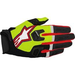 Alpinestars Mens Racefend MX Motocross Offroad Textile Riding Gloves Yellow