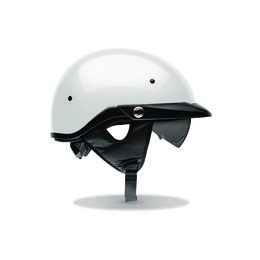 White Bell Powersports Mens Pit Boss Half Helmet 2014