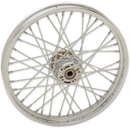 Drag Specialties Spoke Front Wheel 21x2.15 Chrome 0203-0621 Metallic