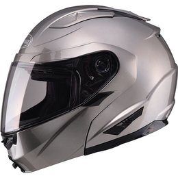 GMax GM64 Modular Helmet With Flip Up Chin Bar Silver