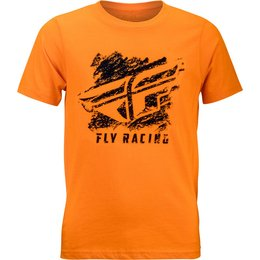 Fly Racing Youth Boys Crayon Premium Fit T-Shirt Orange