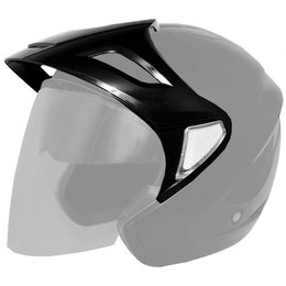 Black Cyber Replacement Visor For U-378 Open Face Helmet