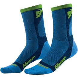 Thor Mens Dual Sport CoolMax Motocross Offroad Motorsports Riding Socks Blue