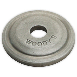 Woody's Digger Aluminum Round Support Plates 5/16 Inch 24 Pack Natural AWA-3775 Unpainted