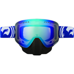 Blue, White Dragon Alliance Nfx Split Snow Goggles With Blue Ionized Lens 2013 Blue White