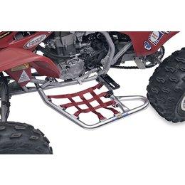Silver Bars/red Webbing Dg Performance Alloy Nerf Bars Aluminum Red For Honda Trx450r