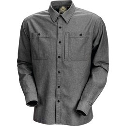 RSD Mens Wyatt Cotton Button Up Shirt Grey