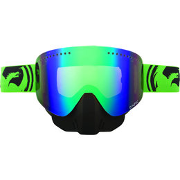 Green, Black Dragon Alliance Nfx Split Snow Goggles With Green Ionized Lens 2013 Green Black