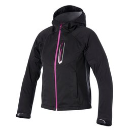 Black Alpinestars Womens Stella Spark Softshell Hooded Textile Jacket 2015