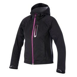 Black Alpinestars Womens Stella Spark Softshell Hooded Textile Jacket 2015