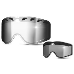Chrome, Smoke Triple 9 Optics Repl Dual Side Lens For Saint Snow Goggles 2014 Chrome Smoke