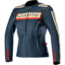 Alpinestars Womens Stella Dyno V2 Leather Jacket Red
