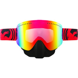 Red, Black Dragon Alliance Nfx Split Snow Goggles With Red Ionized Lens 2013 Red Black