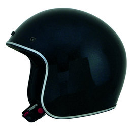 Black Afx Mens Fx-76 Fx76 Metal Flake Open Face Helmet