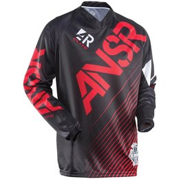 Black, Red Answer Mens Elite Jersey 2015 Black Red