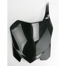 UFO Plastics Front Number Plate Black For Honda CRF 450R 09