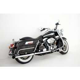Chrome Samson Exhaust Mufflers Silver Bullet Turnout For Harley