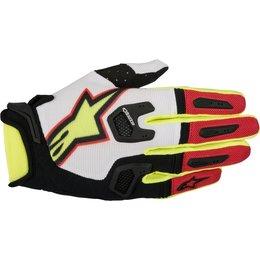 Alpinestars Mens Racefend MX Motocross Offroad Textile Riding Gloves White