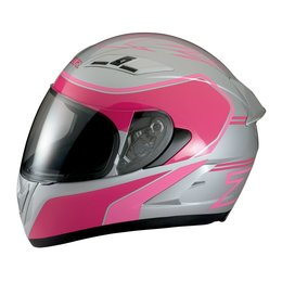 Z1R Womens Strike Ops Full Face Motorcycle Helmet With Flip Up Shield Silver