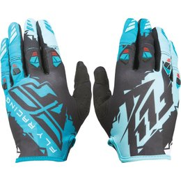 Fly Racing Youth Boys Kinetic Gloves Black