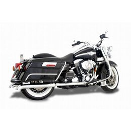 Chrome Samson Exhaust Mufflers Silver Bullet Turn Down For Harley