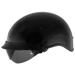 Black Cyber U-72 Half Helmet With Internal Sunshield