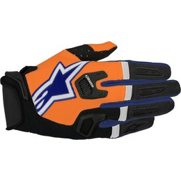 Alpinestars Mens Racefend MX Motocross Offroad Textile Riding Gloves Orange