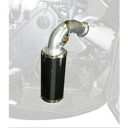 Straightline Snowmobile Lightweight Carbon Fiber Muffler For Ski-Doo 134-146 Black