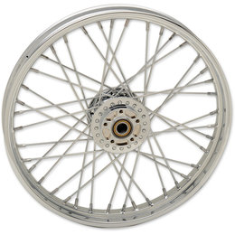 Drag Specialties Spoke Front Wheel 21x2.15 Chrome 0203-0625 Chrome Metallic