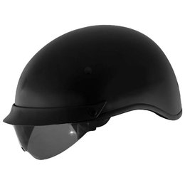 Matte Black Cyber U-72 Half Helmet With Internal Sunshield