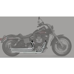 Python Staggered 2:2 Dual Exhaust System Chrome For Harley-Davidson FXD 91-05