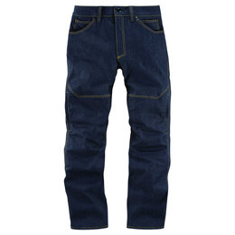 Icon Mens 1000 Collection Akromont Armored Denim Riding Pants Blue