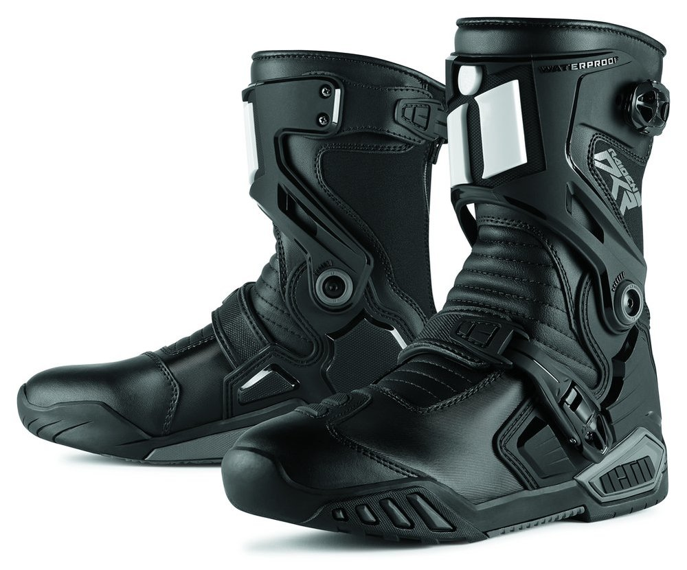 Sportbike Riding Boots >> 85 55 Icon Mens Raiden Dkr Armored Rear Entry Zip 204627