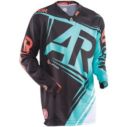 Black, Teal Answer Mens Alpha Jersey 2015 Black Teal
