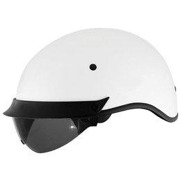 White Cyber U-72 Half Helmet With Internal Sunshield