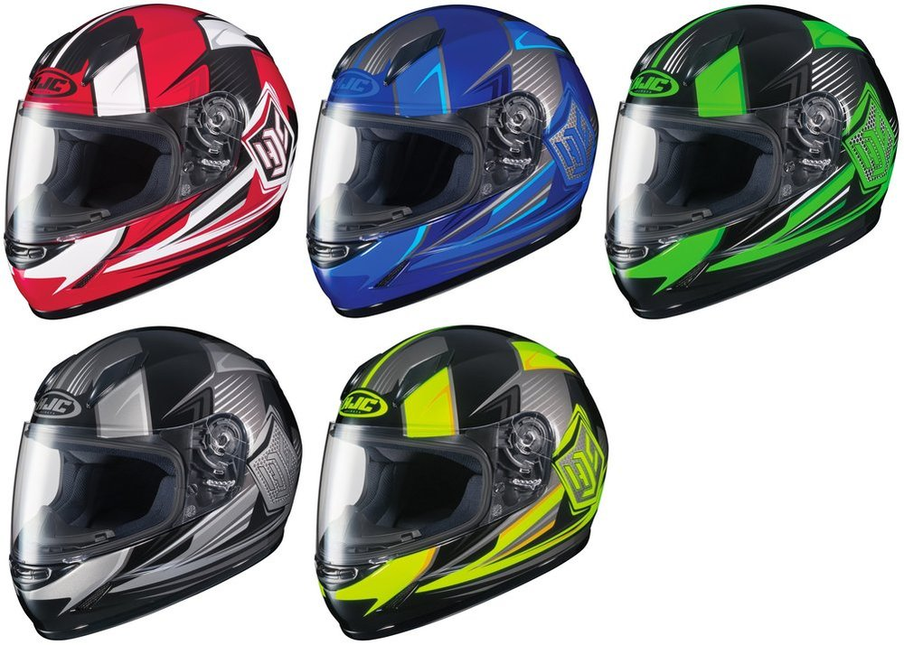 HJC Youth CL-Y Boost Semi-Flat Blue//Black Full Face Motorcycle Helmet DOT