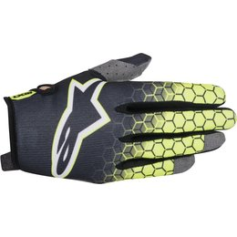 Alpinestars Youth Boys Radar Flight MX Motocross Offroad Textile Riding Gloves Yellow
