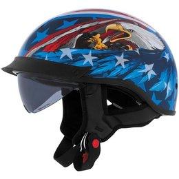 Us Eagle Cyber U-72 Half Helmet With Internal Sunshield
