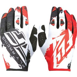 Fly Racing Youth Boys MX Offroad Kinetic Riding Gloves Red