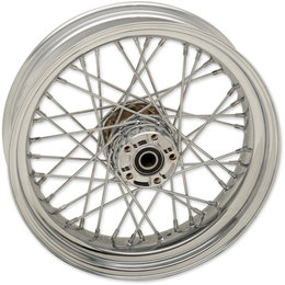 Drag Specialties Spoke Rear Wheel 17x4.5 Chrome 0204-0519 Metallic