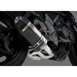 Stainless Steel Mid Pipe/carbon Fiber Muffler/carbon Fiber End Cap Yoshimura R-77 3 4 Exhaust System Stainless Carbon For Honda Cb1000r 2011-2013