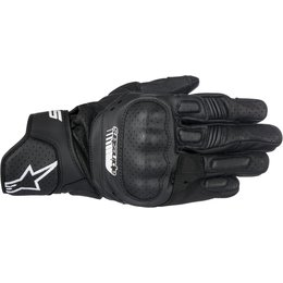 Alpinestars Mens SP-5 SP5 Leather Gloves Black