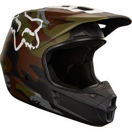 Fox Racing V1 Camo Helmet Local Stock Green