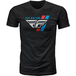 Fly Racing Mens Retro Stripe Premium Fit T-Shirt Black