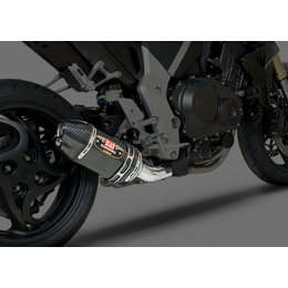 Stainless Steel Mid Pipe/carbon Fiber Muffler/carbon Fiber End Cap Yoshimura R-77d 3 4 System With Dual Outlet Ss Cf Cf For Honda Cb1000r 2011-13