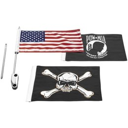 Kuryakyn Side Mount Flag Kit For Harley-Davidson Unpainted