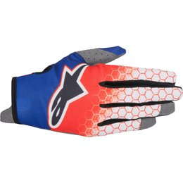 Alpinestars Youth Boys Radar Flight MX Motocross Offroad Textile Riding Gloves Red
